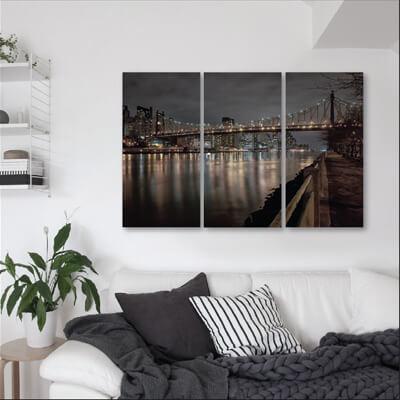 Τρίπτυχος πίνακας γέφυρα στο Μανχαταν