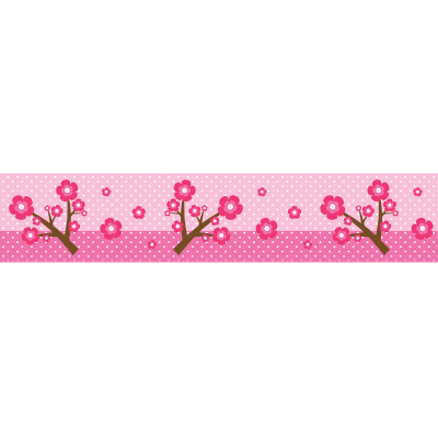 Αυτοκόλλητη μπορντούρα με ροζ μαργαρήτες