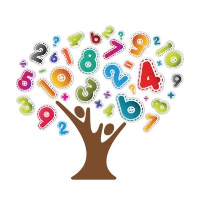 Αυτοκόλλητο δέντρο με αριθμούς